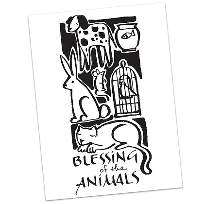 Blessing of the Animals by Sally Beck