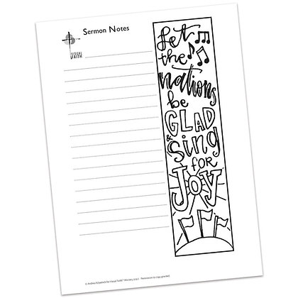 Sermon Notes HS - Psalm 67:4