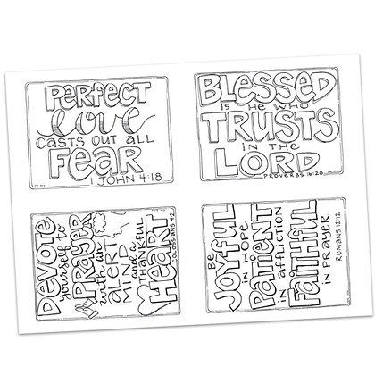 Prayer Postcards Set 1 by Valerie Matyas