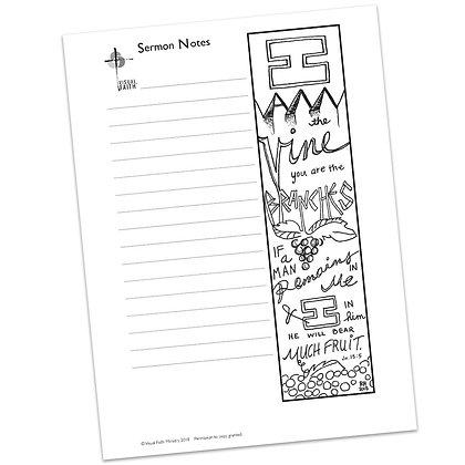 Sermon Notes HS - John 15:5