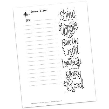 Sermon Notes HS - 2 Corinthians 4:6