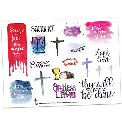 Lenten Images for Creative Reflection by Valerie Matyas and Katie Helmreich