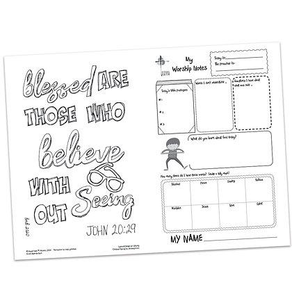 Children's Bulletin - John 20:29