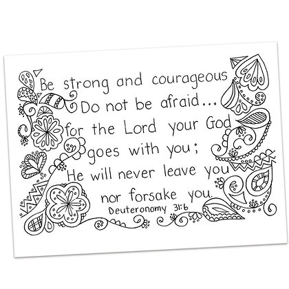 Deuteronomy 31:6 By Ann Gillaspie