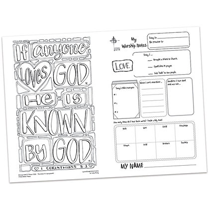 Children's Bulletin - 1 Corinthians 8:1