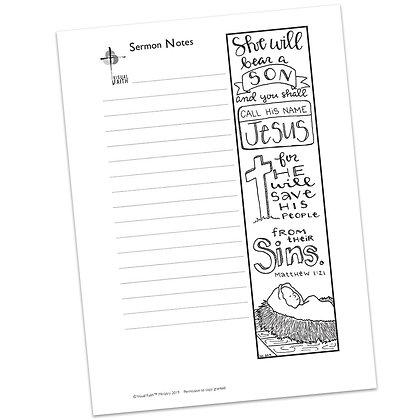 Sermon Notes HS - Matthew 1:21