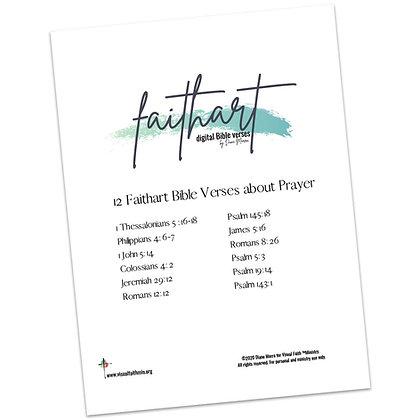 Faithart Digital Bible Verses - Prayer (Set 1) by Diane Marra