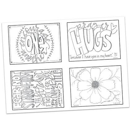Prayer Postcards Set 4 by Pat Maier