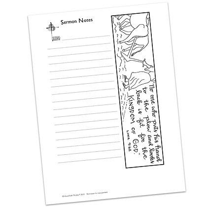 Sermon Notes HS - Luke 9:62