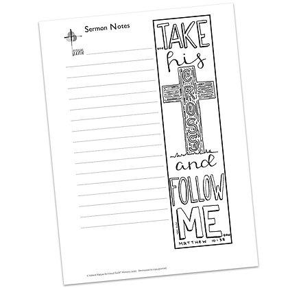 Sermon Notes HS - Matthew 10:38