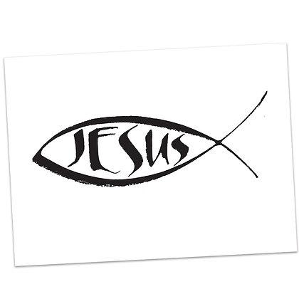 Jesus (Fish Symbol) by Sally Beck