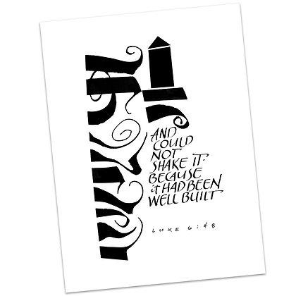 Luke 6:48 by Sally Beck