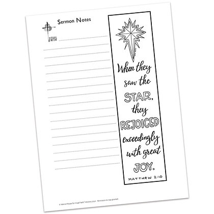 Sermon Notes HS - Matthew 2:10 (vs2)