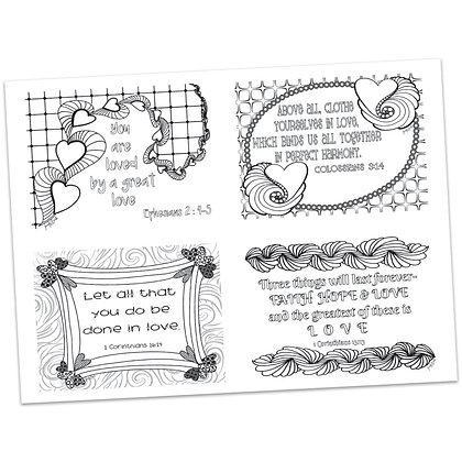 Valentines Postcards by Jennifer Barbe