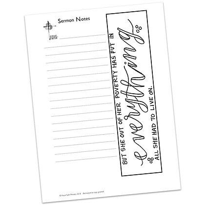Sermon Notes HS - Mark 12:38-44