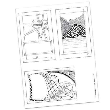 Versicles #3 Blank by Carla Kramer