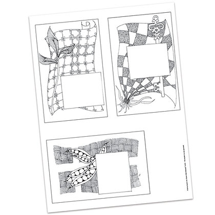Versicles #5 Blank by Carla Kramer