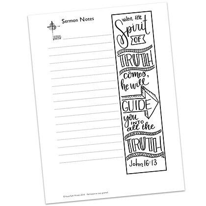 Sermon Notes HS - John 16:13