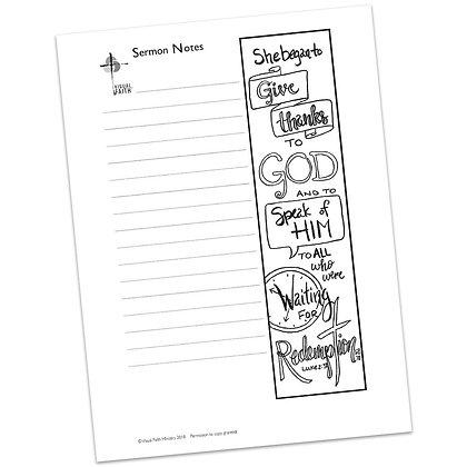 Sermon Notes HS - Luke 2:38