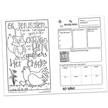 Children's Bulletin - Luke 13:31-35