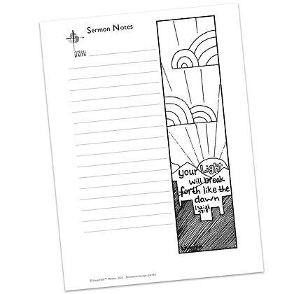 Sermon Notes HS - Isaiah 58:8