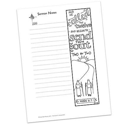 Sermon Notes HS - Mark 6:7