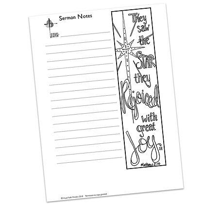 Sermon Notes HS - Matthew 2:10 (vs1)