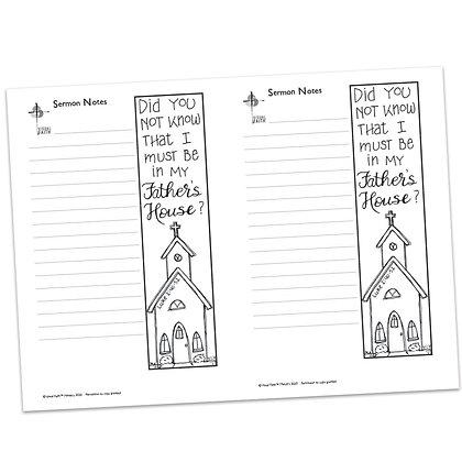 Sermon Notes - Luke 2:40-52 (vs1)