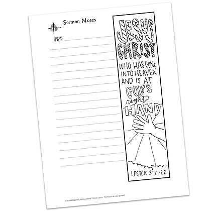 Sermon Notes HS - 1 Peter 3:21-22