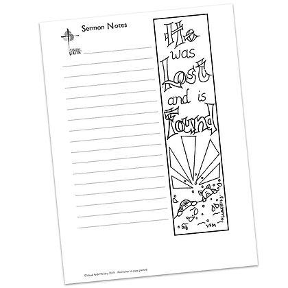 Sermon Notes HS - Luke 15:1-3