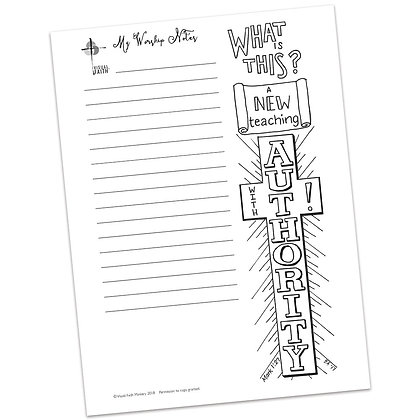 Sermon Notes HS - Mark 1:21-28