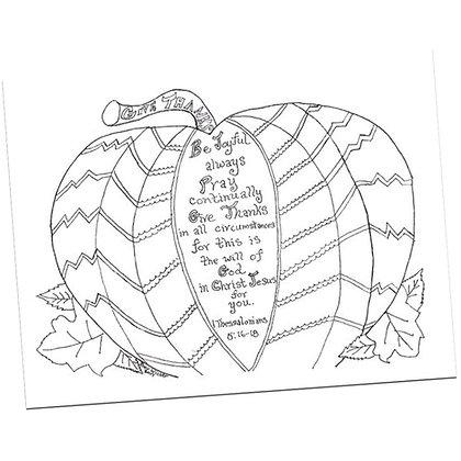 Thanksgiving Pumpkin Prayers by Bev Wicher