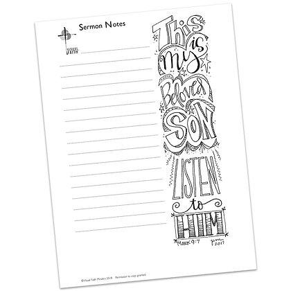 Sermon Notes HS - Mark 9:7