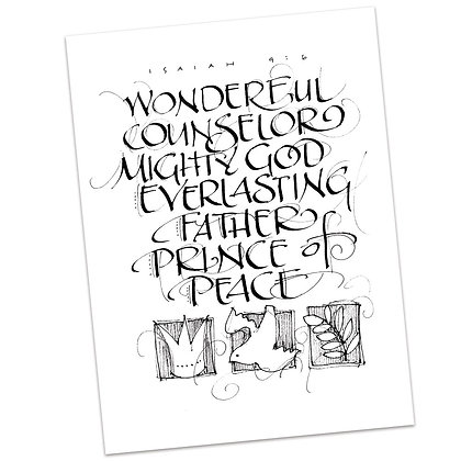 Isaiah 9:6 (vs1) by Sally Beck