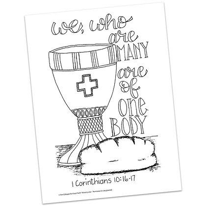 1 Corinthians 10:16-17 HS by Ann Gillaspie