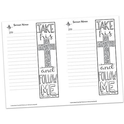 Sermon Notes - Matthew 10:38