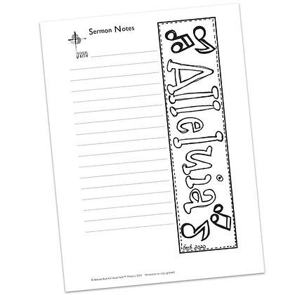 Sermon Notes HS - - Alleluia