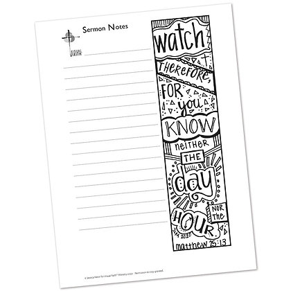 Sermon Notes HS - Matthew 25:13