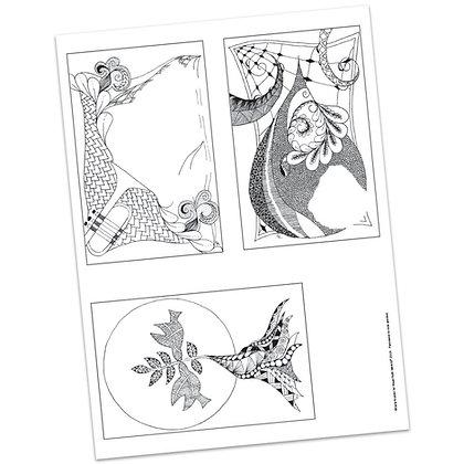 Versicles #9 Blank by Carla Kramer
