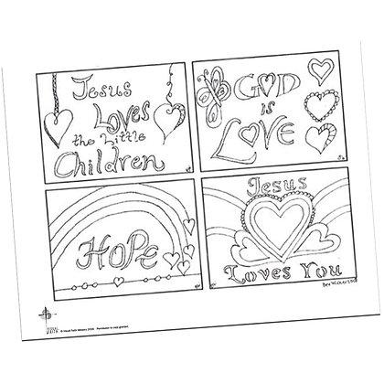 Kids Prayer Cards by Bev Wicher