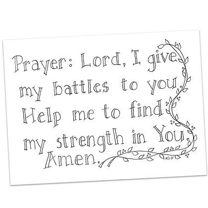 Prayer Half Sheet by Ann Gillaspie
