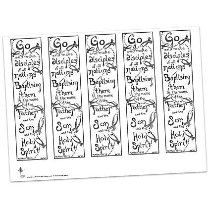 Matthew 28:19 Bible Margin by Kim Gilman