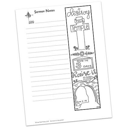 Sermon Notes HS - John 2:19