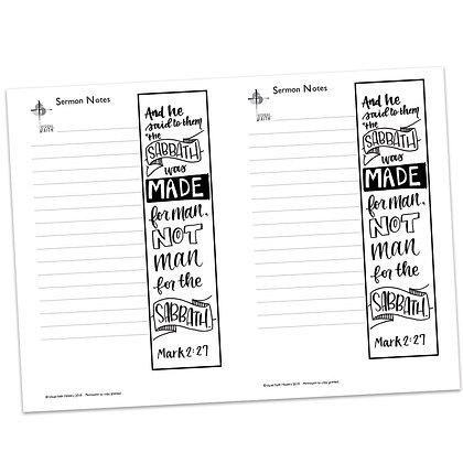 Sermon Notes - Mark 2:27