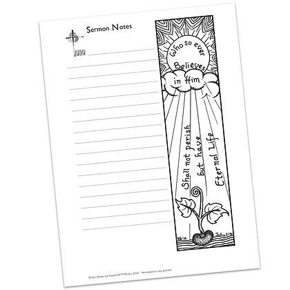 Sermon Notes HS - John 3:16 (vs2)