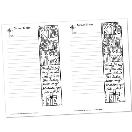 Sermon Notes - Matthew 25:31-46