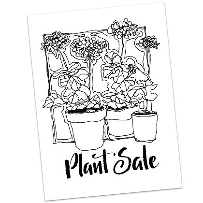 Plant Sale by Sally Beck
