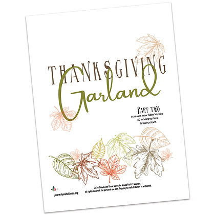 Thanksgiving Garland Project Part 2 by Diane Marra