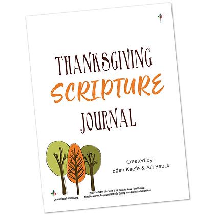 Thanksgiving Scripture Journal by Eden Keefe and Alli Bauck