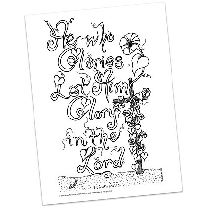 1 Corinthians 1:31 HS by Kim Gilman
